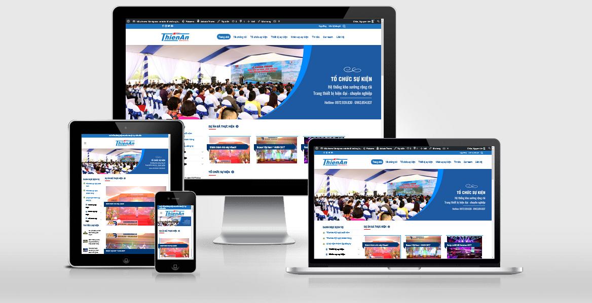 Theme Wordpress dành cho công ty tổ chức sự kiện