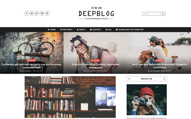 Deep Blog Free Blogger Template