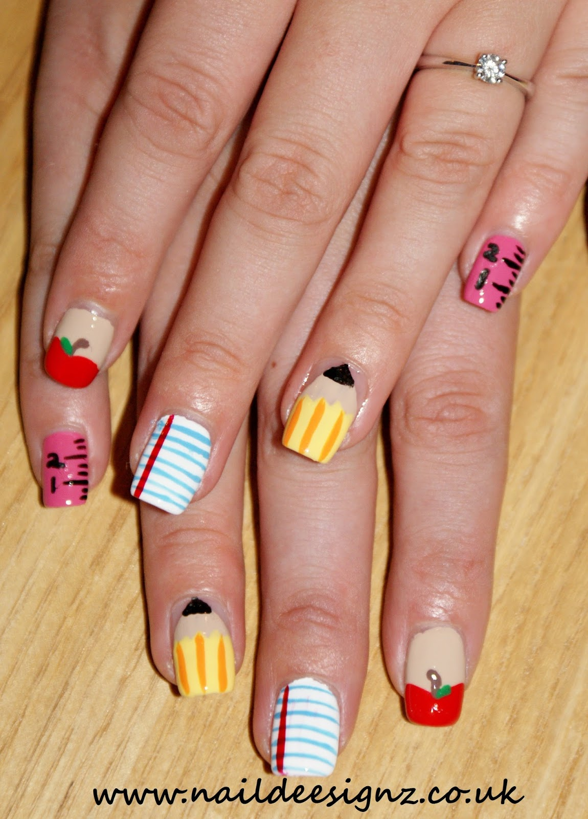 NailDeesignz: Back To School Nail Art