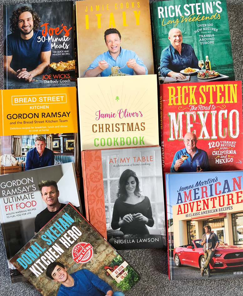 Bundle of ten cookbooks