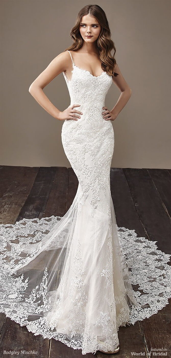 Badgley Mischka 2018 full-length mermaid bridal gown