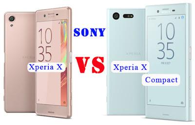 Perbedaan Sony Xperia X VS Xperia X Compact