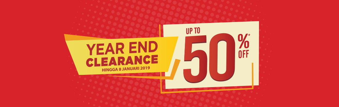 #AceHardware - Promo Diskon s.d 50% di Year End Clearance (s.d 08 Jan 2019)