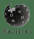 Το έμβλημα της Βικιπαίδειας σε μαύρο χρώμα.