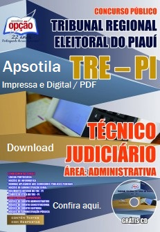Apostila concurso TRE-PI (PIAUÍ) 2015 - Analista e Técnico Judiciário.