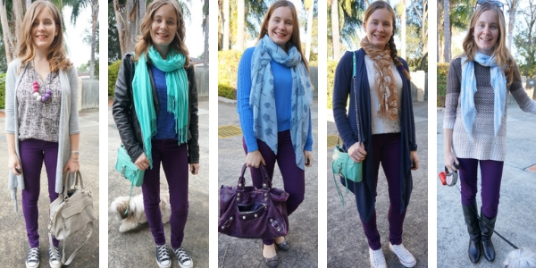 5 ways you can layer purple jeans for winter cosy SAHM style outfits | awayfromtheblue