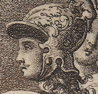 Close up of Aeneas showing Charles II's nose and mustache