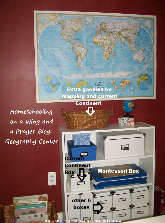 Homeschooling on a wing and a prayer geography help our boxes go on our geography shelf the current continent box to be studied sits right next to the montessori sorting box on the second shelf gumiabroncs Image collections