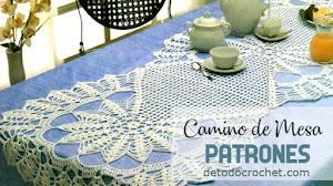 Camino de mesa crochet con patrones