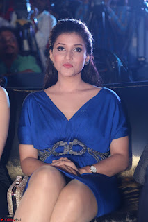 Mannara Chopra in Short Blue Dress at Rogue Movie Teaser Launch 1st March 2017 022.JPG