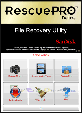 SanDisk RescuePro Deluxe File Recovery Full Version