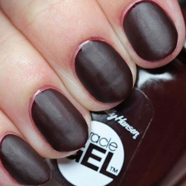 Sally Hansen 479 Wine Stock with Miracle Gel Matte Top Coat