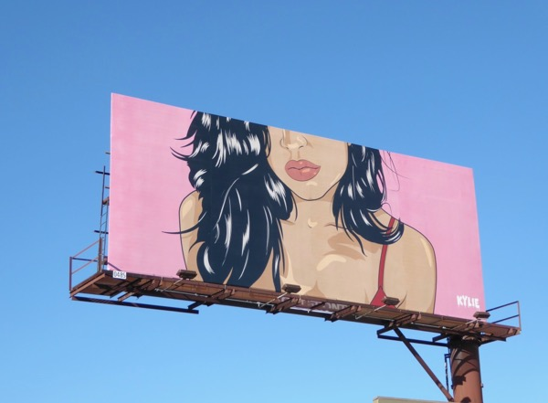 Illustrated Kylie Cosmetics Feb 17 billboard