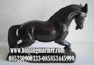 Jual patung kuda antik marmer hitam