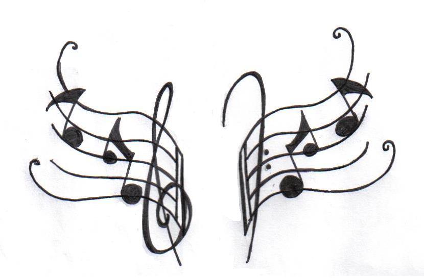 differentstrokesfromdifferentfolks: Music notes tattoo designs