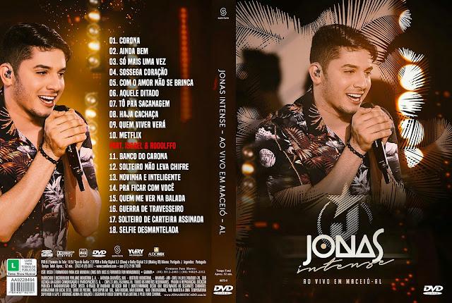 Capa DVD Jonas Intense ao Vivo Em Maceió - AL