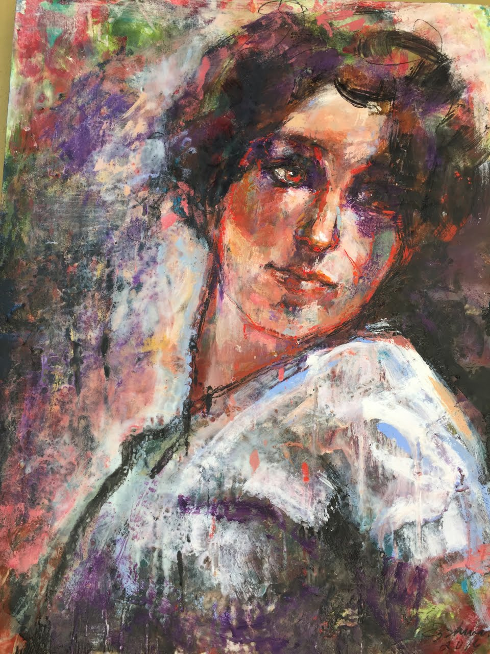 online class:Painting Portraits in Encausstic