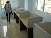 Custom Furniture Semarang - Straight Cubicle Workstation