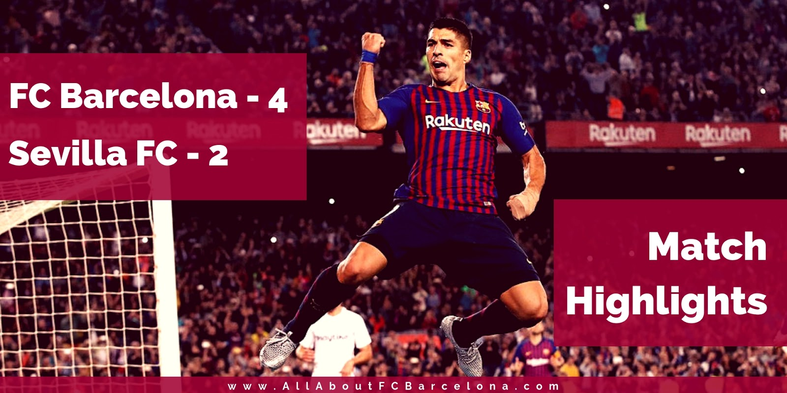 Match Highlights from FC barcelona's 4-2 victory over Sevilla at Camp Nou #Barca #BarcaSevilla #FCBarcelona