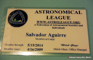 membresias: A.L.P.O y Astronomical League