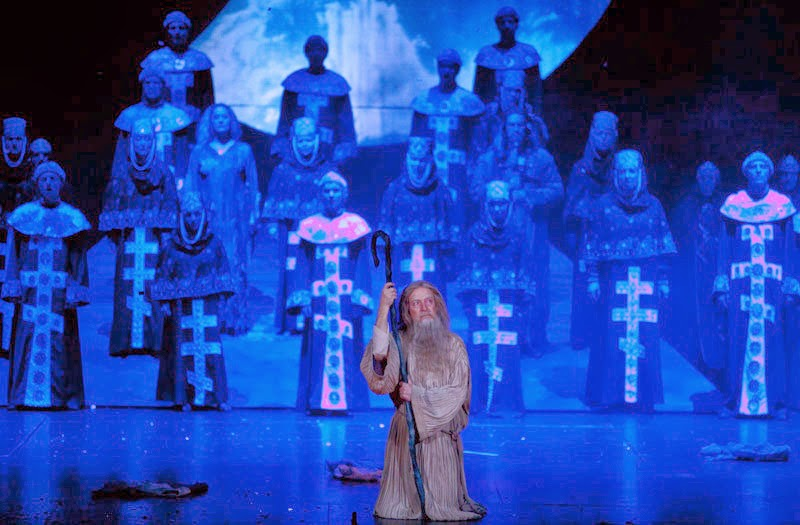 Final scene of Novaya Opera's production of Borodin's Prince Igor -  Photo by Daniil Kochetkov