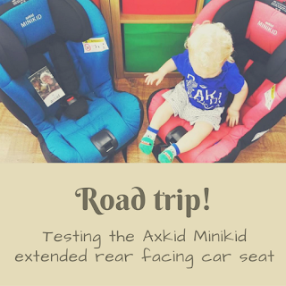 Road trip! A review of the Axkid Minikid extended rear facing car seat