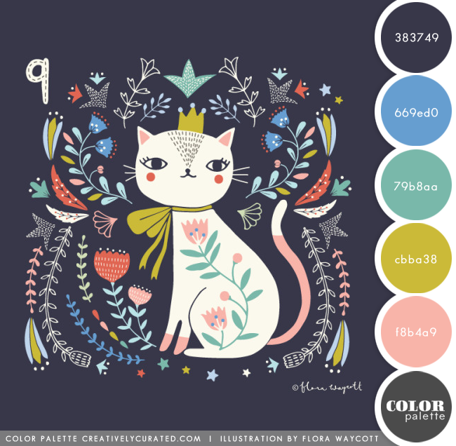 COLOR PALETTE 69 : FLORA WAYCOTT Shared on CreativelyCurated.com #color #colorpalette #creativelycurated
