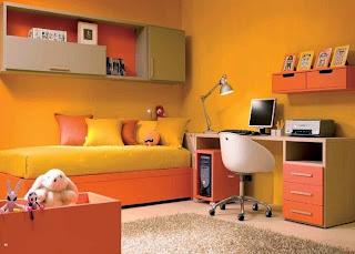 Resultado de imagen para habitaciones con decoradas naranjas juveniles