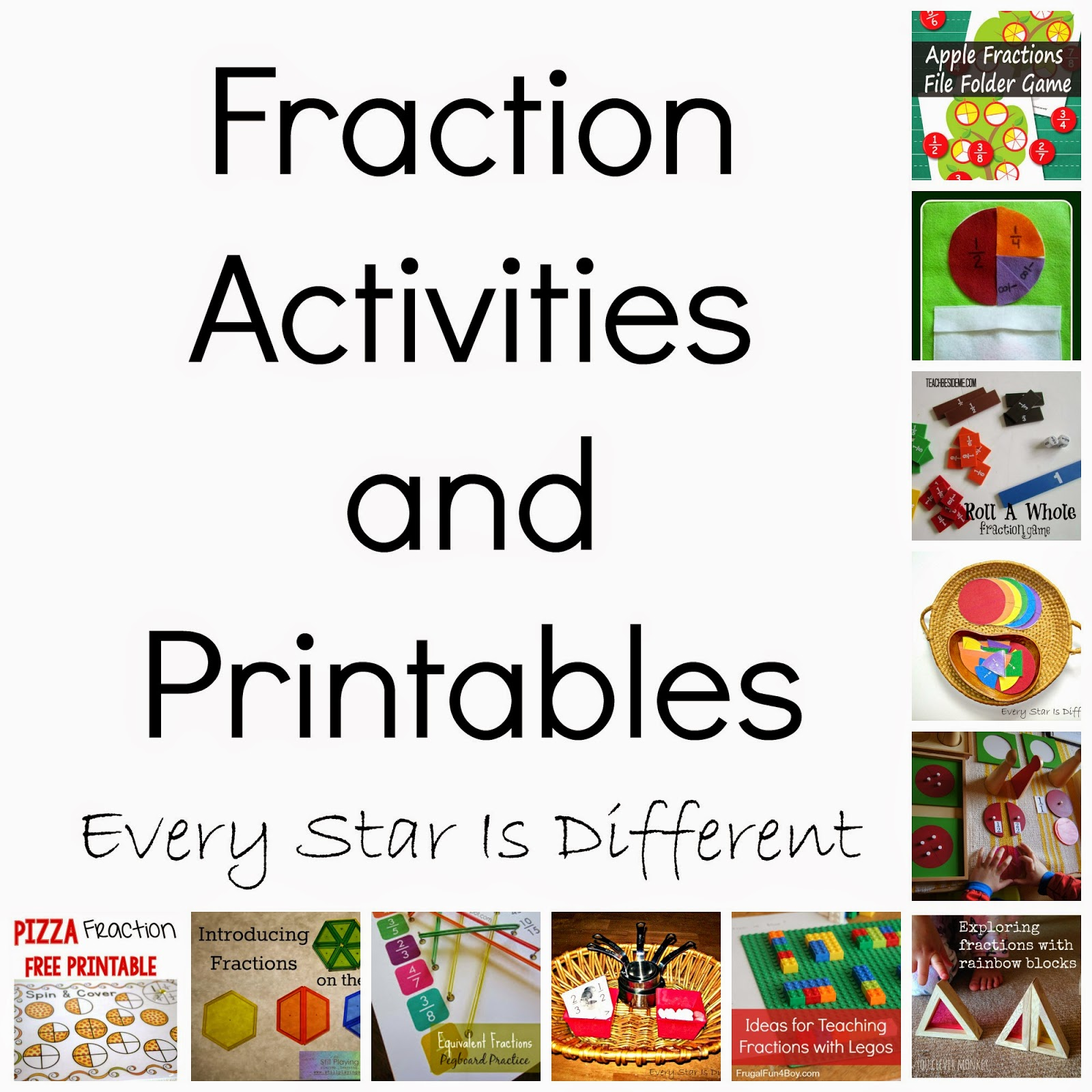 Fraction Activities Amp Printables Klp Linky Party