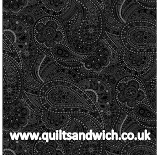 Black Chelsea Black www.quiltsandwich.co.uk extra wide