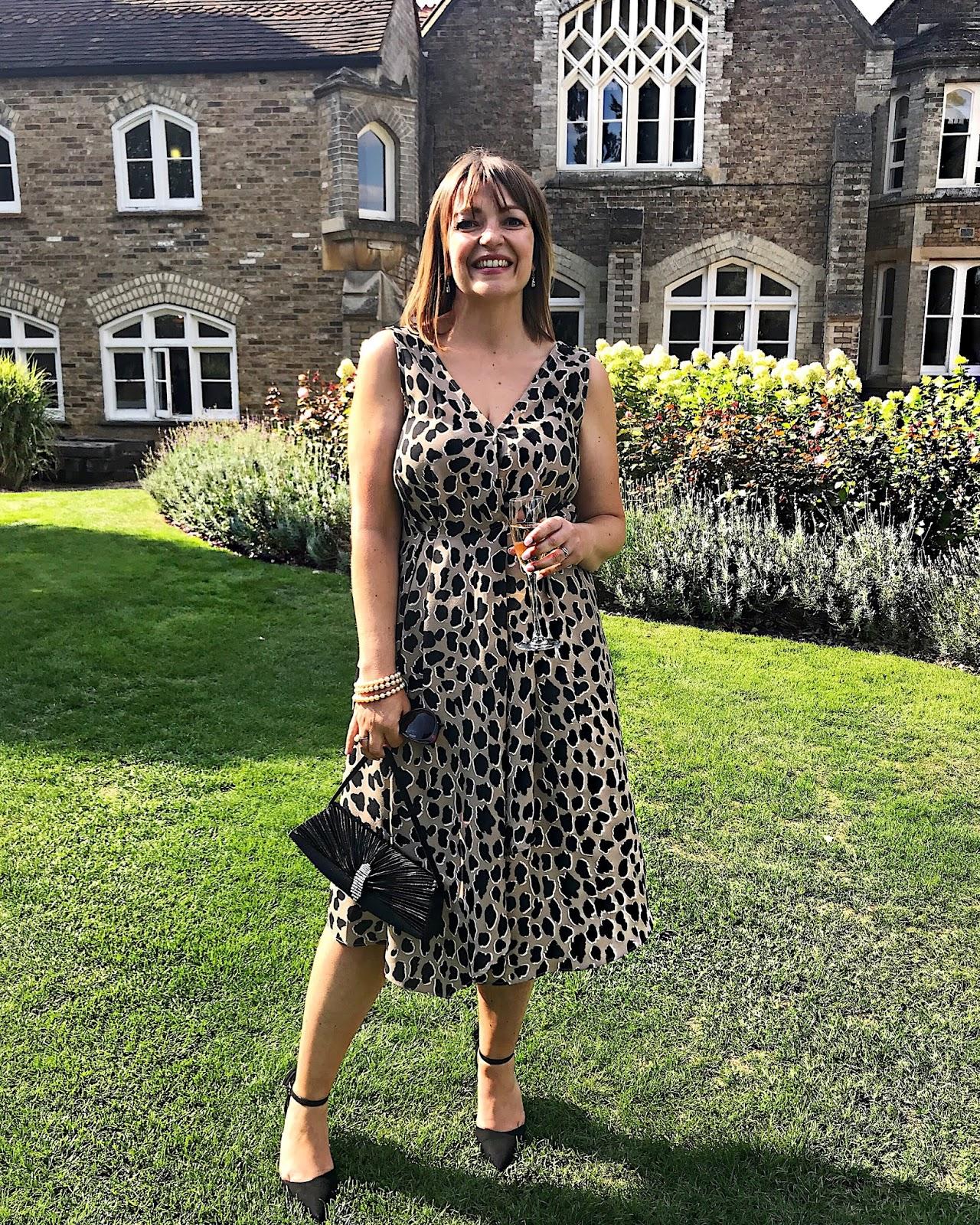 Mango Leopard Print Dress