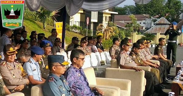 Gubernur Sumbar Hadiri Apel Gelar Pasukan Operasi Keselamatan Singgalang 2018