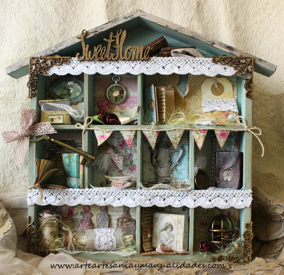 Arte Artesania Y Manualidades Printer Tray Sweet Home Scrap - Manualidades-shabby-chic