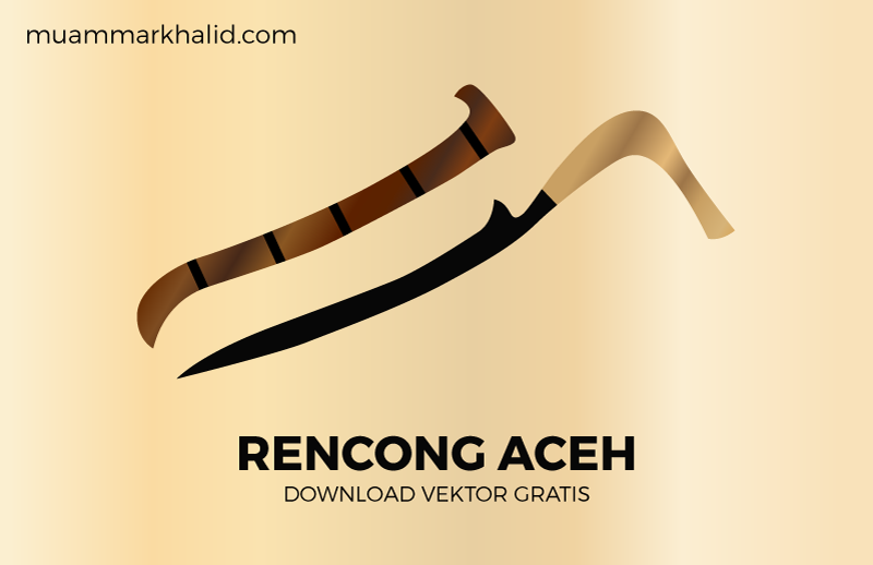 Download Vektor Rencong Aceh Format Coreldraw, Illustrator dan Eps