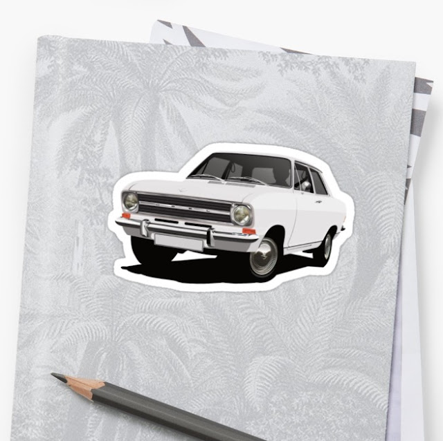 Opel Kadett B Sedan stickers