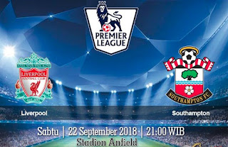 Prediksi Liverpool vs Southampton 22 September 2018