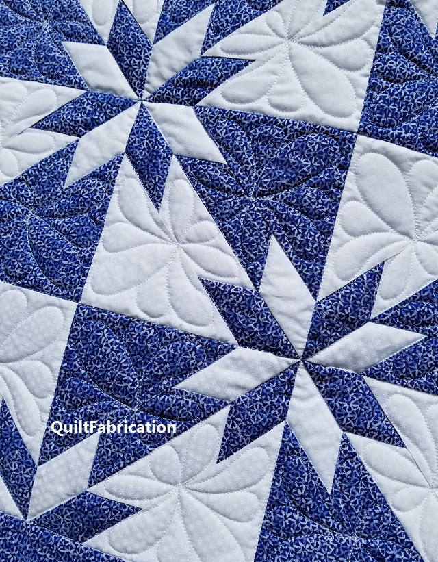 Hunter's Star Feather/Teardrop Motif Quilting
