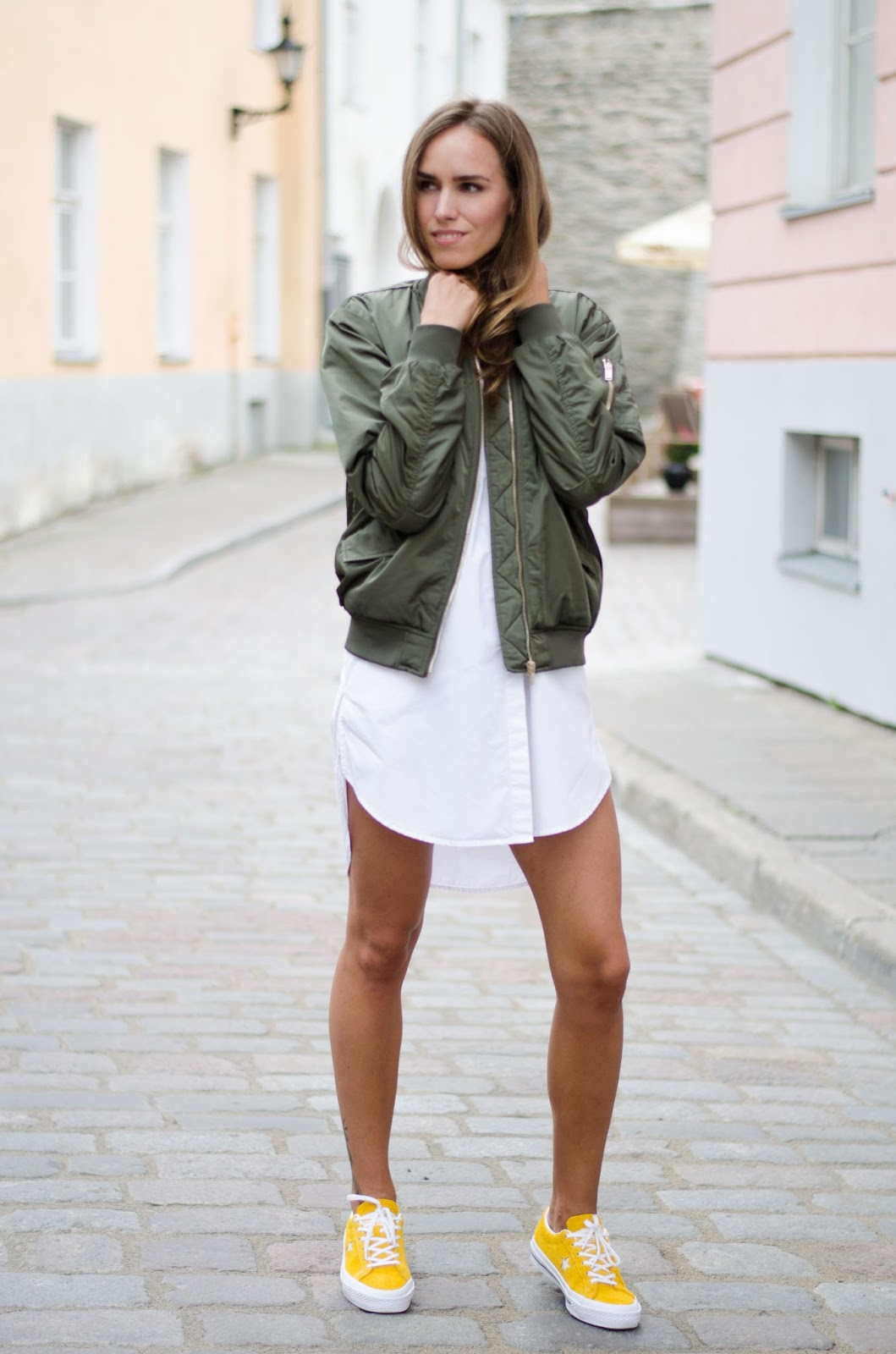 bomber jacket summer outfit