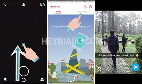 Cara Upload Foto Snapcaht Dari Galeri