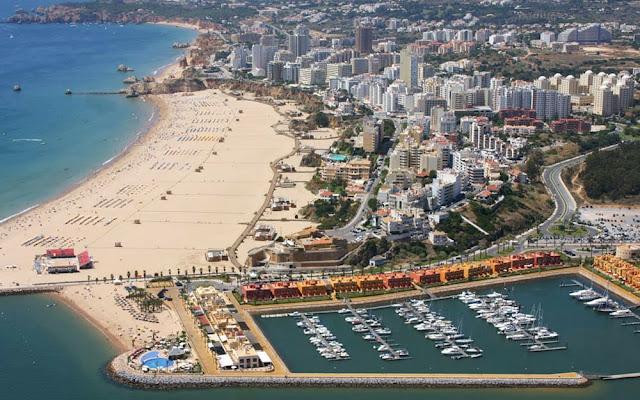 Vista aérea de Portimão – Portugal