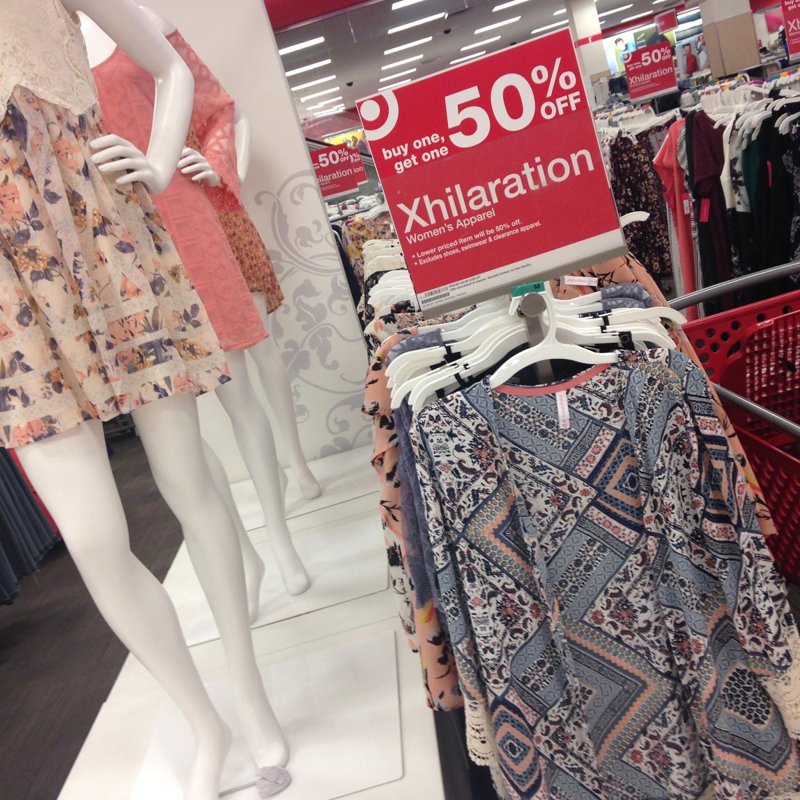2446aadc2 Target BOGO on Xhilaration clothing + use the extra 29% off Cartwheel  Xhilaration