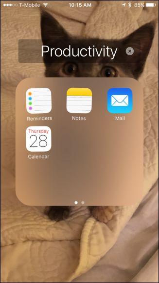 Renaming iOS Folders with Emoji