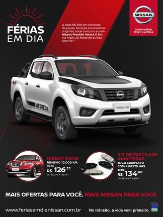 Nissan sorteia uma Frontier Attack em campanha de revisão para férias  Fe__rias_em_Dia_Nissan___dez_18
