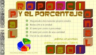 Los Porcentajes. Fichas de Matemáticas para Imprimir: - El QuinTo NiVeL