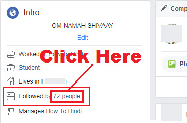 how to know that who is following me on facebook