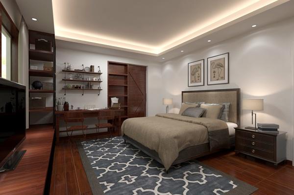 Home bedroom MAX renderings design Free 3d max models