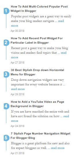 9 Best Recent Post Widget For Blogger Blog - Wonder Krish   Blogger