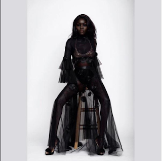 AFRICAN REAL BLACK SKIN [Meet The South Sudanese Model Nicknamed 'queen Of Dark'] 4