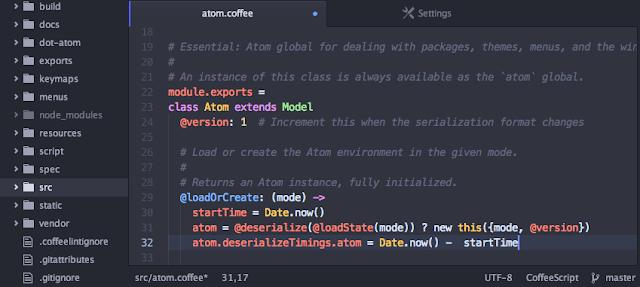 برنامج Atom