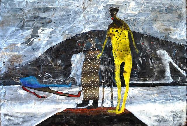 by Shabu Mwangi | imagenes de obras de arte contemporaneo, pinturas tristes | sad art